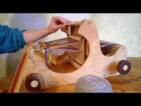 small table weaving loom by harvestlooms