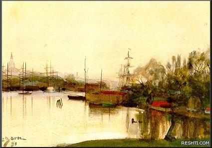 Zorn Stockholm 1881 akvarell Watercolour