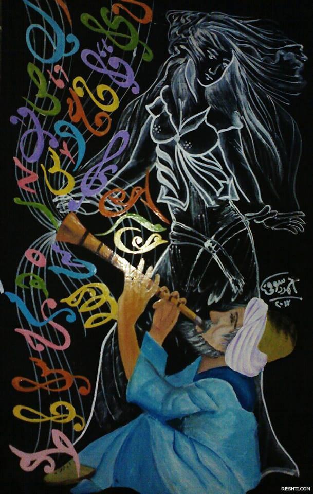 الخطاط  والفنان التشكيلي أحمد دسوقي 5