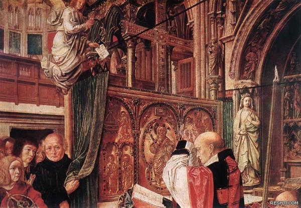 MASTER of Saint Gilles   St Gilles Mass detail
