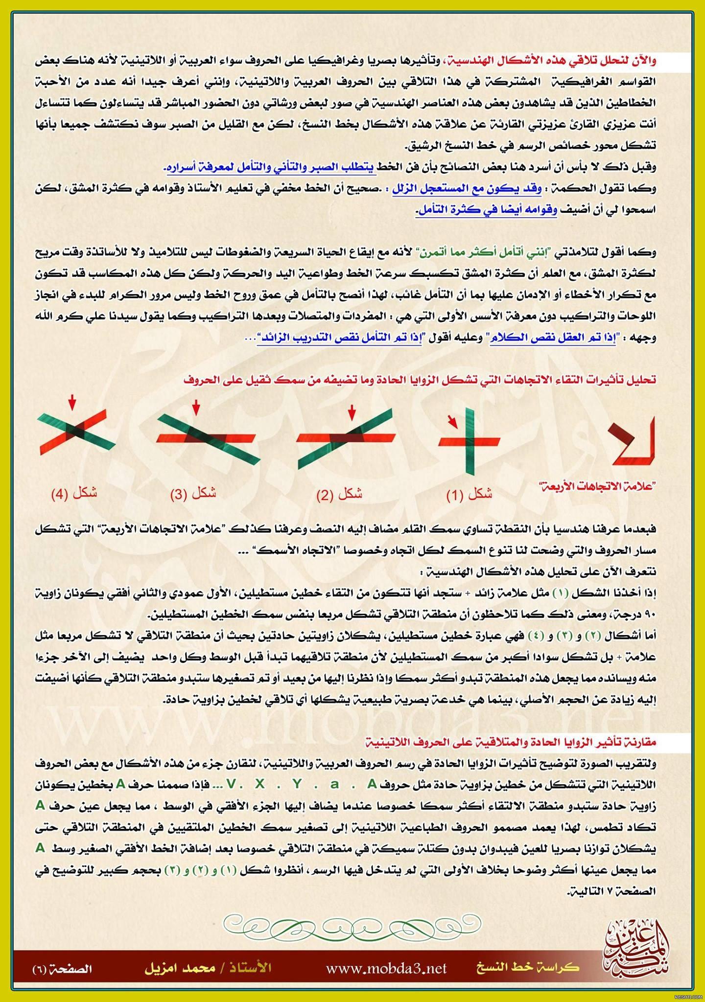 أسرار الرسم في خط النسخ - محمد أمزيل 7