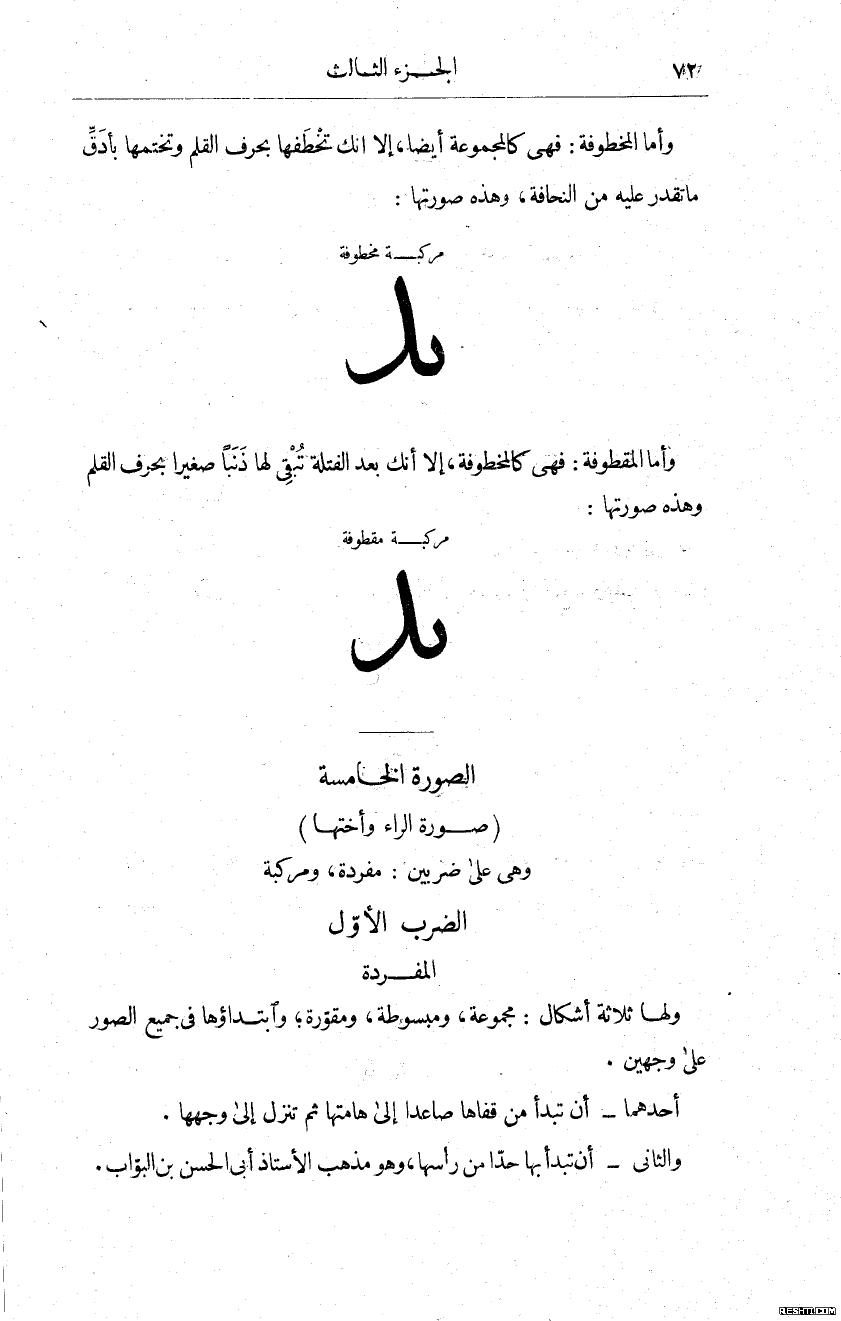 ما يحتاجه الكاتب من الخط العربي- صُبح الأعشى