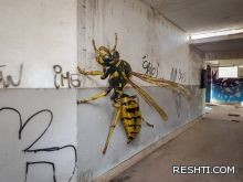 أكبر من حياة الحشرات في Anamorphic Street Art