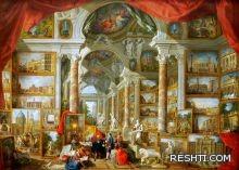 من الفنان الذي رسم اللوحة (( متحف صُوَر لمناظر من روما الحديثة )) ؟