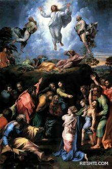 من الفنان الذي رسم اللوحة (( تجلي السيد المسيح )) ؟