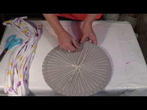 Tapete redondo com tear - Round carpet with loom - Alfombra redonda con telar